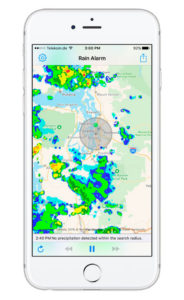 Aplicaciones para el verano Rain Alarm
