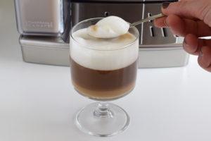 Cafetera de'longhi. Espuma de café