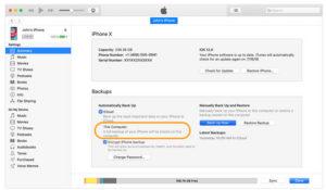 Copia de seguridad iTunes