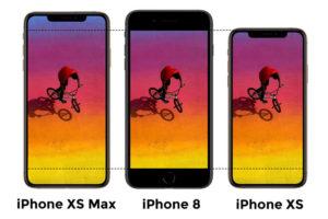 comparacion Pantalla iPhone XS y iPhone XS Max