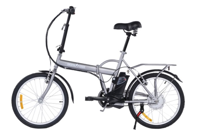 Bicicleta eléctrica plegable Skate Flash EBIKE Gris