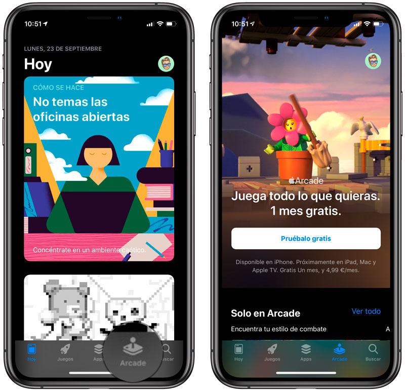 Apple Arcade en App Store